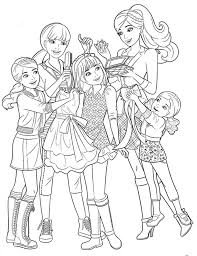 barbie u0026 sisters coloring coloring pages