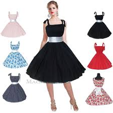 maggie tang 50s 60s vintage swing rockabilly party evening dress