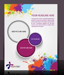 free flyer design stylish brochure flyer design vector graphic 03 vector cover