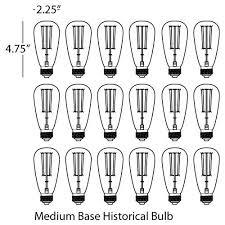 Candelaria Chandelier Espinet Candelaria Chandelier Historic Bulb Set Of 18