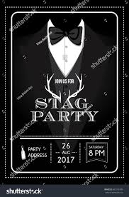 stag do invite stag party invitation calligraphy card lettering stock vector