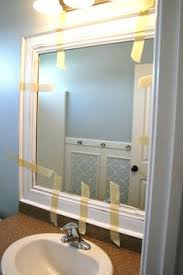 Framing Existing Bathroom Mirrors by Framing Bathroom Mirrors A Great Tutorial With Step By Step