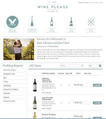 a beautiful free online wine wedding registry from www
