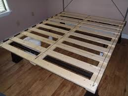 Metal Bed Frame No Boxspring Needed Bed Frames Appealing Platform No Box Trends Also Bedding
