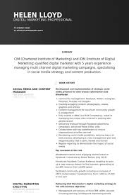 Digital Marketing Resume Sample by Content Manager Resume Samples Visualcv Resume Samples Database
