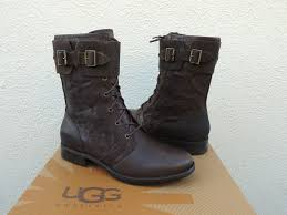 s ugg australia black elsa boots cheap ugg maaverik combat boots lodge brown leather womens us size