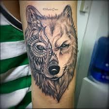 arm sleeve mandala wolf