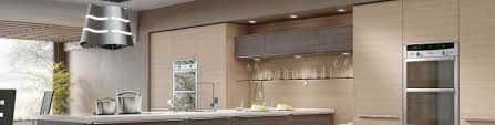 Linear Kitchen by Linear Brown Grey Avola Gallery Showroom