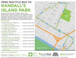 Bronx Bus Map Free Shuttle Bus Now Available To Take You To The Randall U0027s Island