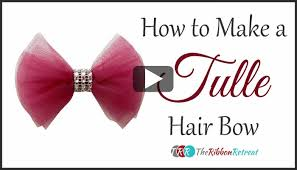 tulle hair bows how to make a tulle bow thursday the ribbon retreat