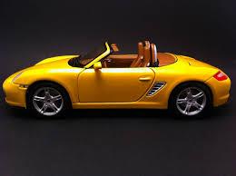 Porsche Boxster Model Car - porsche boxster s 987 jaune 1 18 maisto 31123 selection rs