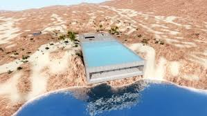 cliffside home with a rooftop pool is designed be energy