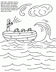 jesus calms the storm coloring pages draw 3915
