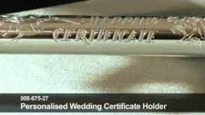 Wedding Certificate Holder Buy Silver Plated Wedding Certificate Holder Plain In Cheap Price