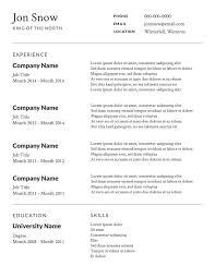 Resume Templates Australia Free Resume Resume Templates