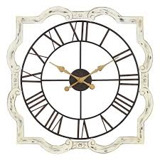 eloise off white metal french country wall clock beach home