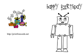 9 best images of printable folding birthday cards to color