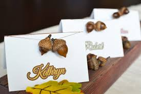 Diy Place Cards Diy Acorn Place Cards By Sweet Society