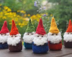 wool felt gnome etsy