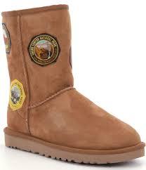 ugg sale regents park lyst ugg national park patch boots in brown