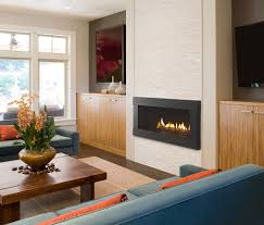 stylish decoration linear fireplaces fullview dacor gas fireplace