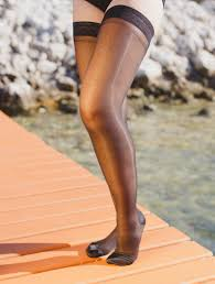 sheer thigh high stockings extra firm 20 30 mmhg