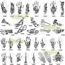 1pc large india henna tattoo stencil glitter temporary mehndi
