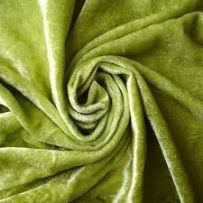 Green Velvet Upholstery Fabric Lime Green Velvet Fabric Yardage Commercial Fabric Curtain