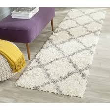 Safavieh Runner Rugs by Amazon Com Safavieh Dallas Shag Collection Sgd257f Ivory And Grey