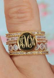 Gold Monogram Rings Beautiful Monogrammed Rings Do You Love The Gold Or Silver More