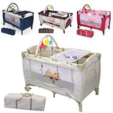 tectake new portable child baby travel cot bed playpen with