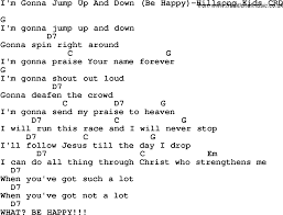 christian childrens song i m gonna jump up and be happy