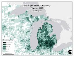Chicago By Zip Code Map by Alumni Demographics U2014 University Licensing Programs