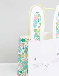 meri meri rabbit meri meri meri meri x liberty bunny gift bags pack of 8