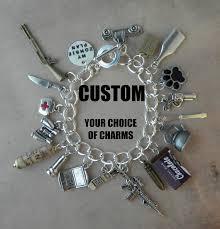 custom charm custom your plan charm bracelet for the walking dead