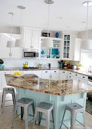 Diy Kitchen Cabinets Kitchen Gorgeous Kitchen With Curved Kitchen Island And Simple