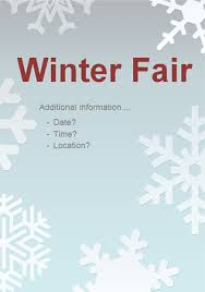 editable winter fair poster 2 free early years primary