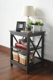 end table with shelves x design dark espresso end table 3 tier shelf ehome products