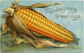 free vintage image corn thanksgiving greetings postcard design