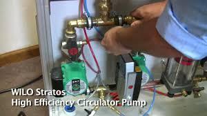 Circulation Pump For Water Heater Wilo Stratos High Efficiency Circulator Pump Demo Youtube