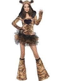 Safari Halloween Costume Tiger Fancy Dress Costume Safari Animal Ladies Womens