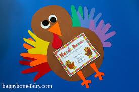 thankful handprint turkey craft free printable happy home