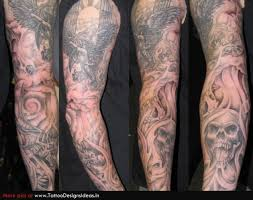 horror sleeve tattoo design for men in 2017 real photo pictures