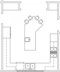 Kitchen Floor Plans Kitchen Extraordinary Kitchen Floor Plans With Island Marvelous