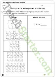 number worksheets multiplication and division year 1 teaching