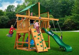royal palace space saver wood swing set playsets and accessories