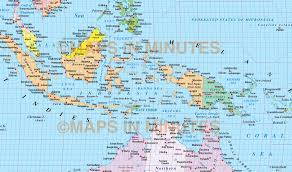 Indonesia World Map by Vector World Map Times Projection Political Uk Centric 10m Scale