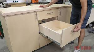 how to build a base for cabinets to sit on how to build a base cabinet with drawers fixthisbuildthat
