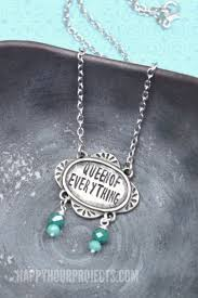 Hand Stamped Necklace Queen Of Everything Hand Stamped Necklace Happy Hour Projects