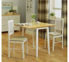 Drop Leaf Table And Chairs Buy Home Kendall Extendable Wood Table U0026 2 Chairs Two Tone At